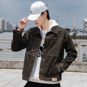 2020 New Dark Brown Casual Mens Denim Jacket Plus Size 5XL Bomber Jacket Men High Quality Cowboy Mens Jeans Jacket Chaqueta Hombre