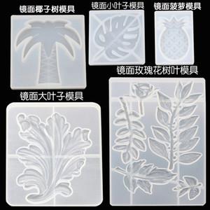 Cristal Moules Feuille de Silicone Écologique Dropping Colle Moule Populaire Main Transparent Moules Réutilisables Nouveaux Modèles 12dy J1
