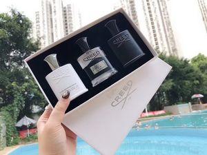 Creed Parfüm 3 adet set Deodorant Tütsü Kokusu Kokulu Köln Erkekler için Gümüş Dağ Su / Creed aventus / Yeşil İrlandalı Tüvit 30 ml