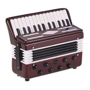 Exquisita miniatura musical Mini realista acordeón Inicio regalo de los juguetes de los niños