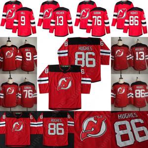 New Jersey Devils 86 Jack Hughes Jersey 76 P. K. Subban Taylor Salão 13 Nico Hischier Hockey Jerseys Homens Branco Vermelho