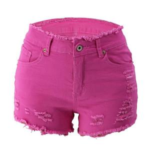20SS Женщины дизайнер джинсы Мода Горячие Ripped кисточкой Zipper Fly высокой талией Жан Шорты Повседневная Женщины Одежда