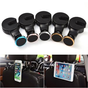 Multifunction Car Seat Back Hook Magnetic Mobile Phone Holder Stands Car Headrest Mount For Phone Hanger Bracket