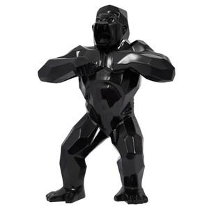 """32"""" Büyük sanat KingKong Hayvan Gorilla Art Craft Yaratıcı Heykeller Heykeller Dekorasyon Doğum Simülasyon Hediye Reçine Şekil Koleksiyon Mod"""