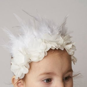Kinder Mädchen Feder Blume Stirnbänder Baby Neugeborenen Nette Mode Blume Hairwear Kinder Federn Haarschmuck RRA567