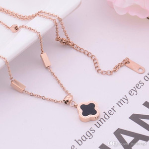 jewelry necklace for women titanium steel clover pendant necklace hot fashion free of shipping