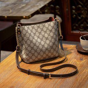 Las mujeres de cuero de la moda del ins Cubo de lujo bolsa de los bolsos del diseñador bolsos clásicos bolsos de hombro bolsos de las señoras del patrón Cruzado