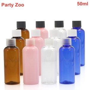 500 x PET Round Colorful Plastic Bottle Clear White Black Cap Size 2oz,50ml clear PET Cream Bottle