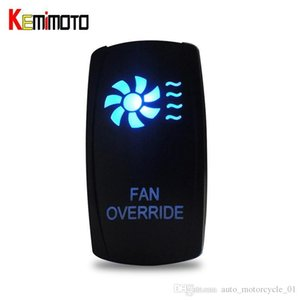 KEMiMOTO all'ingrosso per Polaris Ranger RZR 900 800 4 1000 900 Per Can Am BLU Fan LED Rocker Switch UTV Winch Illuminato IN OUT Interruttore