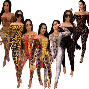 Femmes 2 pièces Set Sexy Club Slash Crousser Vêtements Hiver Jumpseaux Jumpseaux Pantalon SweatSuit Pullgover Leggings Tenue Vêtements BodySuits 2250