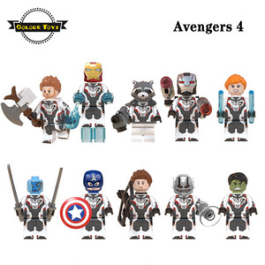 Avengers 4 Super eroe Thor Iron Man Rocket War Machine Black Widow Nebulosa Ant Man Captain America Hulk costruzione blocchi di figura Giocattoli