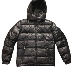 Mens Designer Brasão Jacket Parka com capuz Homens Winter casaco corta-vento Parkas jaquetas de Luxo Grosso Jackets Mens Asian tamanho da roupa dos homens