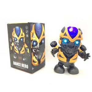 Dança elétrica Hornet Brinquedos Som Flash Deformação Robô de Dança King Kong Balanço Luz Música Hot Sale Pop Presentes Brinquedo estranho