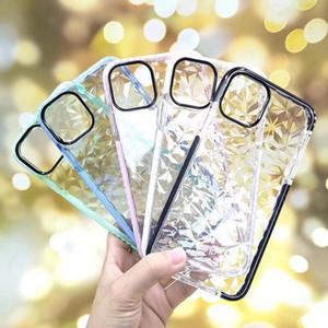 iPhone Para diamante Caso 11 Pro XR XS MAX macio TPU à prova de choque capa protetora de cristal Bling Glitter borracha capa para Samsung S10 Além disso Nota 10 9