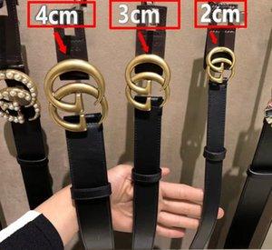 La venta caliente nueva para mujer para hombre de los pantalones vaqueros G # cinturones modelo para los hombres de las mujeres hebilla de metal cinturones de perlas con tamaño no 100cm-125cm con la caja 6688