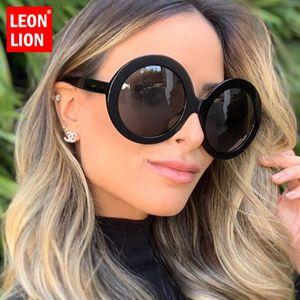LeonLion 2019 Round Oversized Sunglasses Women Oval Sunglasses Women Men Vintage Glasses for Women Gafas