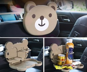 Cartoon foldable dining table, back seat car cup rack, car water cup rack, car beverage rack multi-functional