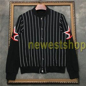 2020 новый мужской дизайнер пальто куртки модные куртки Толстовка Толстовка Осень Спорт Черный белые полосы пальто мужские Одежда звезда печати