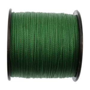 Braided fishing line 500m super pe wire 4 strands 10 15 20 25 30 40 50 60 70 80 90 100LB green grey yellow multicolor 4 braid cord