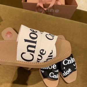 Chloe Moda di lusso delle scarpe delle donne Flip Flop lettera tessuto di cotone sandali dei pistoni di skateboard estate spiaggia piatta Xshfbcl