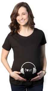 Freshtops Hamile Giyim Yaz Yeni Stil Avrupa Ve Amerika Moda Orta uzunlukta Kısa Kollu Tişört Yaz Giyim Tops