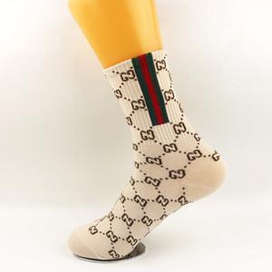 2020 personnalité ins long tube rouge net chaussettes marée Fashion Design lettres automne chaussettes femmes et des chaussettes en coton peigné d'hiver