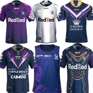 Top Nuevo 2019 2020 2021 tormenta de Melbourne edición de recuerdos de rugby jerseys Liga de rugby camiseta 19 20 21 Melbourne hogar lejos camisas de color púrpura S-5XL