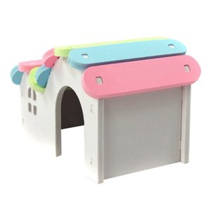 Pet Hedgehog Castle Climb Toys Small Pet House Luxurious Hamster House Swing Toy Slide Hamsters Nest Loft Bed Cage Nest