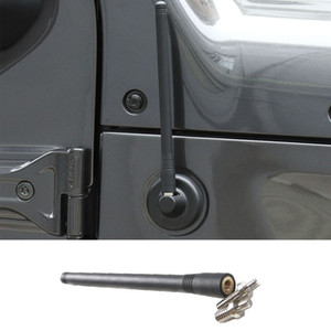 Nero Antenna Car Modified antenna Odified segnale antenna corta Per Jeep Wrangler JK JL 2007-2018 per Ford F150 2009-2014 / 2015 +