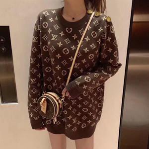 Pull nouveau automne femme et l'hiver fond d'usure extérieur sans doublure célébrité web vêtement supérieur avec le même manteau en tricot lâche petit wi parfumé
