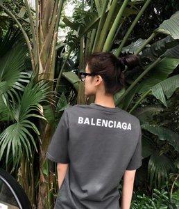 2020 ABD kadın tasarımcı t shirt casual retro Bayan tişörtleri kısa kollu pamuk yaz üst düzey malzemeler üst mektup nakış t shirt