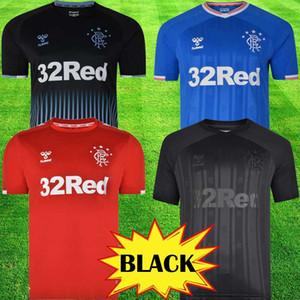 2019 Yeni Rangers FC Ev Mavi Futbol Formaları 2019 2020 kitleri Glasgow Rangers ekipmanları Futbol Gömlek Üniforma üstleri tee Maillot