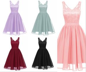 Nuovo arrivo disegno delle donne della novità estate di alta qualità Lanon Lady abiti di pizzo vintage con scollo a V di lavoro o Party Dress