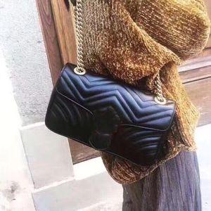 Newset Luxury Women Lady Messenger Bags Love heart V Wave Pattern Satchel Genuine Leather Designer Shoulder Bag Chain Handbags Purse