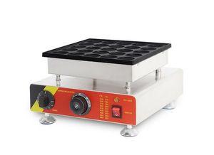 Comercial antiadherente eléctrico Mini holandés fabricante de panqueques Poffertjes Grill Machine 25 unids / lote acero inoxidable 220 V 110 V CE aprobación