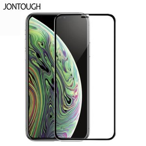 9H 3D non-porous fingerprint unlocking toughened screen protector for iPhone 11 pro XR X XS MAX full coverage purple light anti-peeping film