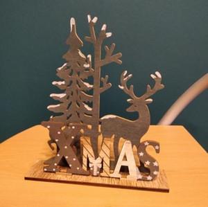 Elk Xmas Tree ciondoli appesi accessori per la casa in legno di Natale ornamenti decorazione del partito fai da te Casa Tavolo da giardino decorativi