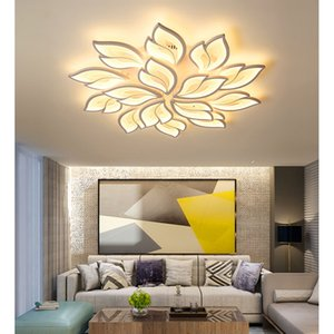 Modern Design Leaf Shape Ceiling Lights Nature Theme Custom Chandeliers With Changeable Colors And APP Control