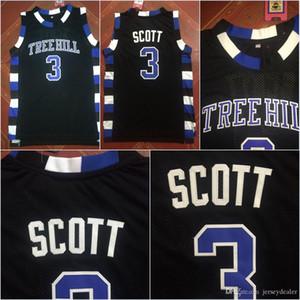 Numéro 3 Lucas Scott La version cinématographique de One Tree Hill Maillot de basket-ball Lucas Scott Movie 100% noir cousu S-3XL Expédition rapide