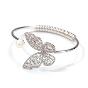 Crystal Zircons Women Charm Butterfly Fashion Chain Bracelet Elastic Butterfly Corn Chain Bracelet For Girls