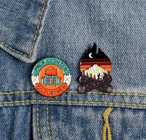 Lapel Pins Go Future Spillette avventura Luna Bonfire zaino di campeggio Pins e spille gioielli regalo per gli amici zdl0114.