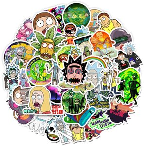50 pcs Mixed Car Sticker Ricky Cartoon For Laptop Skateboard Pad Bicycle Motorcycle PS4 Phone Luggage Pvc guitar Decal refrigerator Stickers