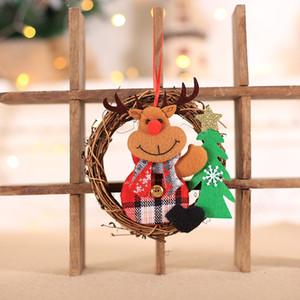 Noel Süslemeleri Ev Santa Kardan Adam Kolye için Noel Süsler Mutlu Ağacı Chrismas Oyuncaklar Çocuklar bp209
