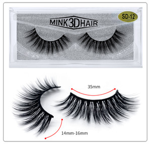 Long Dramatic 3d mink 25mm Eyelashes Bright eyes Natural simulation SD Series Sharpening 15mm mink lashes Multi-layer Curled and Slender