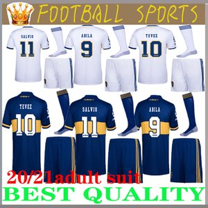 kits adultos 20 21 Boca Juniors de hombre doméstica PAVON DE ROSSI Fútbol fija 2020 2021 blanco MARADONA TEVEZ camisa pantalón corto fútbol uniformes completa