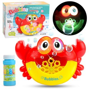Kids Baby Cute Cartoon Toys Crab Automatic Bubble Maker Lightly Machine Outdoor Blowing Soap Bubbles Fun Play Toys hotA