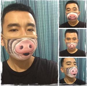 Divertente della bocca maschera antipolvere Carino divertente Denti Cotton Mouth Mask Cartoon Volto Emotiction Masque riutilizzabile lavabile Bocca Fashion Mask