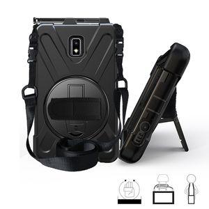 Samsung Galaxy Tab Aktif 2 8.0 SM-T395 T390 Tablet + Stylus Omuz Kayışı Kalem Yuvası ile Silikon Kılıf