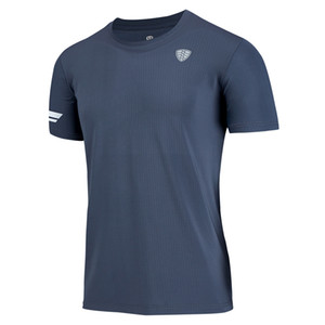 Meilleure vente Running T Shirt Hommes Gym T-shirt Respirant Polyester Dry Fit Sport Nouveau Séchage Rapide Basketball Football Fitness Fitness Marque Tee