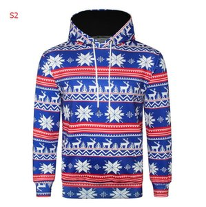 2020 Fashion Mens Designer Hoodies mit Christmas Patterns 3D Digital Printing Marke Hoodies Autumn Männer Hoodie Street 4 Styles Optional